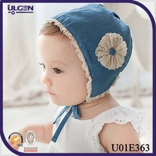 Lovely toddlers sunhat Urban Baby Bonnet with lace flower