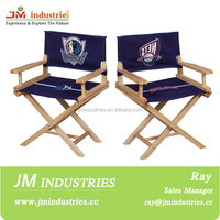 wooden folding director chair with table and cooler bag closeout