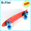 Fashion plastic penis skateboard, 60*45mm PU wheel skate board