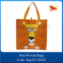 Custom Made Non Woven High Quality Cute Tiger Bags Shopping
