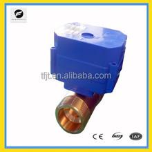 DC12V electric motor actuator Torqur 6NM Full port 2 way Mini electric ball valve for Solar thermal,under-floor,rain water