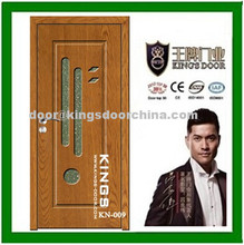 Pvc doors with glass insert for rooms