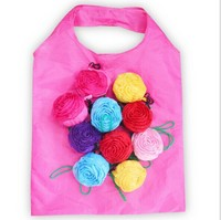 Rose Flower Folding Shopping Bag in Color Show Box