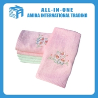 2015 high quality bamboo fiber satin embroidered towel