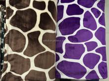 2015 new print style 100% polyester blanket flannel coral fleece blanket purple geometry