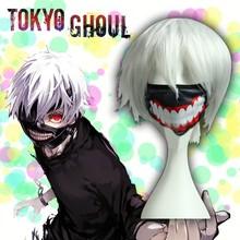 New Ken Kaneki Tokyo Ghoul Anime Cosplay Wig Costume Otaku White High Quality Hair Wig KK590