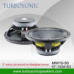 10 inch high efficiency 95dB speaker for feedback or monitor systems