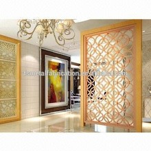 Hot Selling Laser Cutting Galvanized Steel living room partition wall