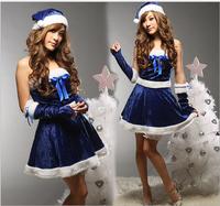 YIWU Caddy SDFS-014 wholesale hot beauty blue sexy girl image christmas costume