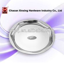 Christmas party serving Stainless Steel round plate