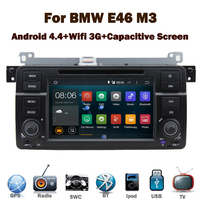 Quad Core 1024*600 HD Android 4.4 Car DVD GPS Player for BMW E46 M3 Wifi 3G Bluetooth Radio RDS USB IPOD Steering wheel Canbus