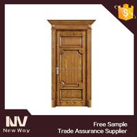 Entrance wooden doors price for villas , villa use exterior entry solid wood door design for sale