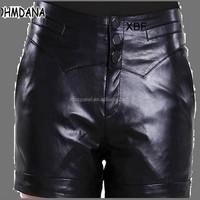 DK048 ZheJiang direct factory wholesale women leather shorts on alilibaba