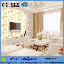 Fashion design blue pink wallpaper decorative plastic wallpaper