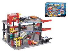 Kis plastic DIY car parking lot toys assemble toy super garage playset with 3 free wheel cars DB012137