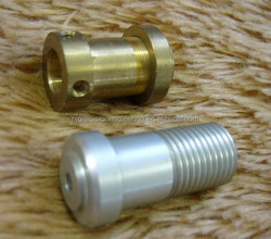 steel and brass half threaded turning bush,machining parts,cnc parts