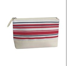 Hot Selling Wholesale Horizontal Striped Cosmetic Fabric Bag CT1873