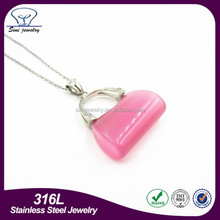 resin jewelry , best friend forever pendant, bag shape pendant