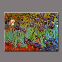 Pure hand-painted high quality design simple, modern purple flower painting