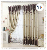 home textile 100% polyester hotel quality blackout curtain fabric,latest curtain design for room