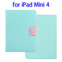 Cheap Price Candy Color Leather for iPad Mini 4 Leather Cover