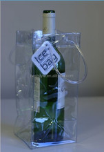 Transparent clear custom pvc wine cooler bag