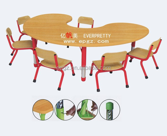 nursery school furniture nursery children desk chair moon shape study