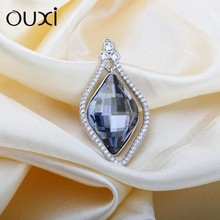OUXI factory direct price silver necklace jewelry crystals from swarovski