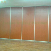 Restaurant, Hotel Wooden Soundproof Folding Partition Doors