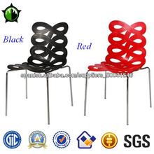 moderno de plástico de acero cromado de sillas de comedor para la venta