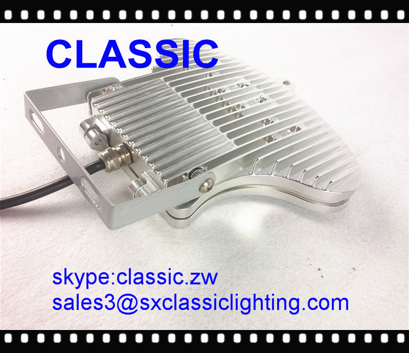 CE ROHS IP65 5 year warranty motion sensor 50W LED flood light casing