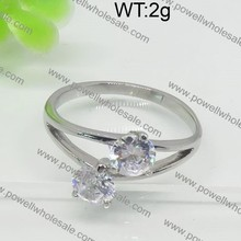 Endearing silver plated 3 carat diamond ring