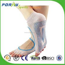 PORAY Barefoot Feel non slip fitness socks/half toe