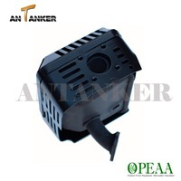 6.5hp Gasoline 168F 200cc go kart small engine parts 18300-ZE1-900 GX200 MUFFLER ASSEMBLY (with exhaust pipe)