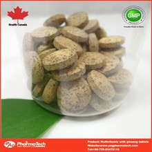 private label OEM multivitamin with ginseng tablets