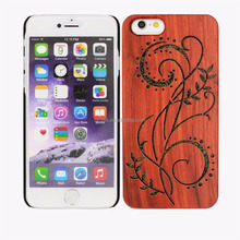 New Innovative and Creative Products Wood phone Case, Hollow Out Wood Case for Iphone 6