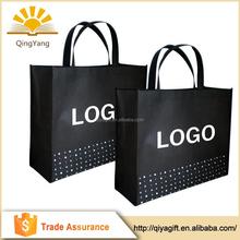 Wholesale reusable shopping non woven fabric custom tote bag with custom logo