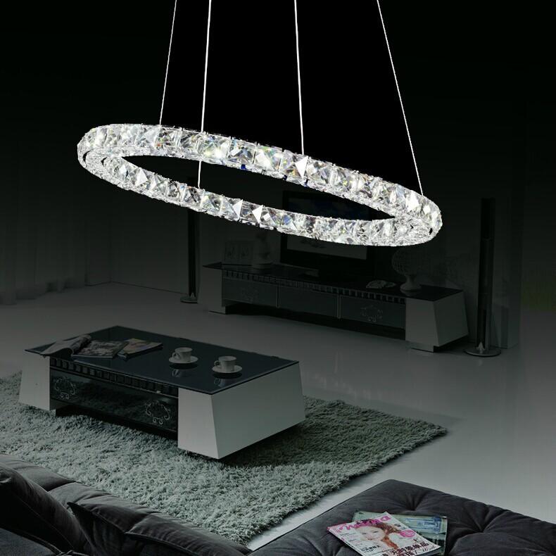 Tre anelli di lusso moderno lampadario di cristallo illuminazione ...
