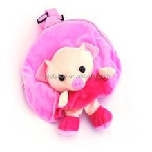 minion pink plush pig backpack school bag for kids gift bag