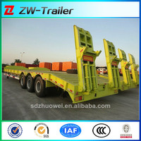 hot sale heavy duty low bed semi trailer export for haulage companies in nigeria