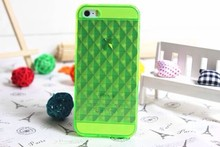 Transparent Clear Soft TPU Diamond Quilted Back Cover Case for iPhone 5 5S 5G