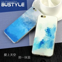 Wholesale Blue Sky Simple Style Ultra Slim Soft tpu case for iPhone 5s 6 Plus