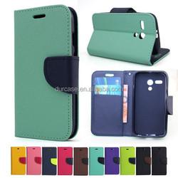 Book Style Phone Case for Moto X+1/XT1097,Fancy Dual Colour Leather Case for Moto X+1/XT1097