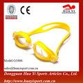 Artículos deportivos a prueba de polvo impermeable de caucho de silicona gafas de natación