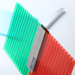 colored hollow double wall polycarbonate sheet,solar roof panels