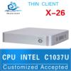 XCY X26 C1037U industrial fanless nuc mini pc with 4*USB2.0, 1*VGA, 1* Gigabit nics