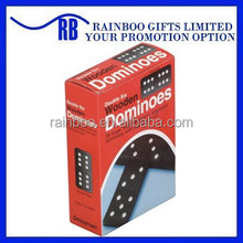 Hot selling top quality double six domino game set with colorful gift packing