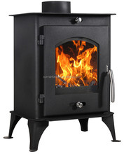 colled-roll steel plate wood burning modern stove(DL007)