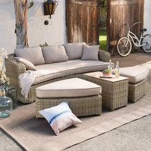 2015 Most popular synthetic rattan sofa set garden furniture