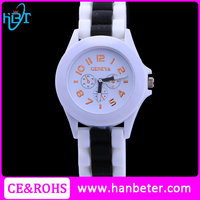 Wholesale price ladies wrist watch silicon geneva watch japan movement